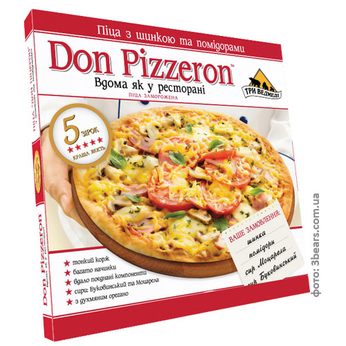 "Пицца ""Don Pizzeron"" с шинкой и помидораим  0.350 кг"