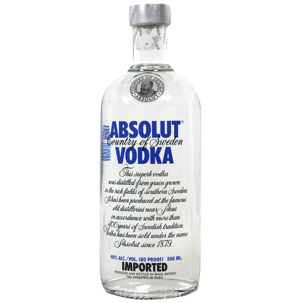 "Водка ""Absolut""  Blue 0.500 кг"
